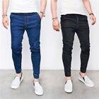 Men's Ripped Skinny Biker Jeans Destroyed Frayed Designed Slim Fit Denim Pants