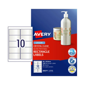 Avery Laser Label L7113 8Mm 10Up Pack Of 10