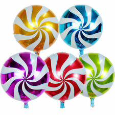 Pack of 200 - 18'' Foil Round Candy Lollipop Balloon - Bulk Wholesale Party Deco