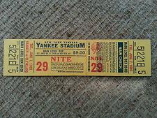 Yankee Stadium Bright Colorful Full Ticket from June 7, 1983