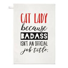 LADY CAT perché non è uno TOSTO un titolo MANSIONE UFFICIALE asciugamani Dish Cloth-Crazy