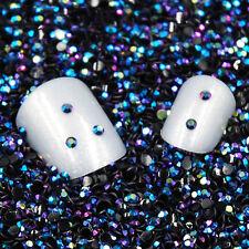 2000Pcs 2mm 3D Round AB Glitter Rhinestone Acrylic Nail Art Crystal Decorations