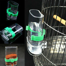 Pet Bird Cage Auto Water Bottle Parrot Food Hanging Dispenser Feeder Clear 200ml