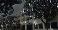 Festive Cascading Snow Shower Lights. 216 LEDs. Indoor Outdoor Christmas Decor.