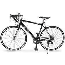 14 Speed Shimano 700CX54C Road Bike Racing Bicycle Aluminum Frame Black GTM