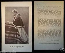 ANTIGUA ESTAMPA PAPA PIO XII   OLD SAINT POPE PIUS XII  HOLY CARD   CC132