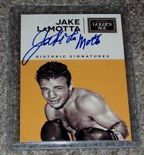 Jake LaMotta 2014 Panini Golden Age Boxing card Historic Signatures Raging Bull