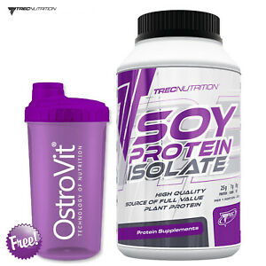 SOY PROTEIN ISOLETE 650g - Whey Muscle Mass Gain Vegetarian Vegan Plant Protein