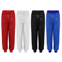 #S-3XL Summer Women High Waist Sequin Harem Pants Jogger Dance Trousers Bottoms