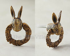New Anthropologie Fabled Fauna Rabbit Pull / Knob Bunny ~ Sold Out!