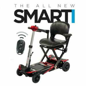 Monarch Mobility Smarti Remote Control Automatic Folding Mobility Scooter Blue