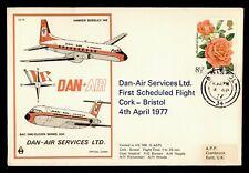 Dr Who 1977 Gb First Flight Dan-Air Services Bristol Cancel Nice Cachet 182136
