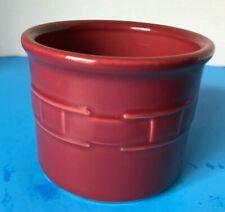 "Longaberger Pottery ~ ""Salt"" Crock ~ Woven Traditions ~ 1 Pint ~ Paprika"
