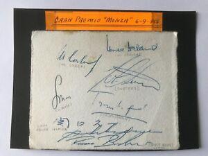 7 Autographs ITALIAN GP 1964 on Ticket! McLaren/Bucknum/Ireland/Moss/Trintignant