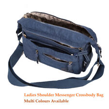 Nylon Shoulder Messenger Crossbody Bag Women Satchel Handbag Multi Zipper Pocket