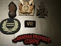 Canada Forces Obsolete Military Rank Badges and Hat Badges Insignia Military Lot