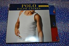Polo Ralph Lauren Set of 3 Classic Fit Cotton Ribbed Tanks Size: Small NIB