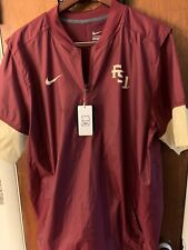 Beautiful Vivid NIKE FLORIDA STATE SEMINOLES NCAA MENS 1/2 ZIP HOT JACKET LARGE