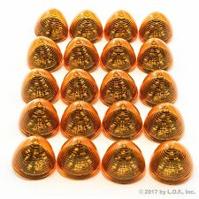 "20 New 2"" Amber LED Beehive Side Clearance Marker Lights Trailer Auto Bright"