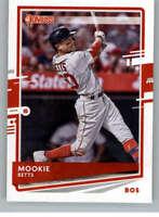 2020 Donruss Variations #77 Mookie Betts Boston Red Sox