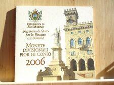 San-Marin BU 2006, 9 pièces de 1ct à 2€ + 5€ argent M Delfico