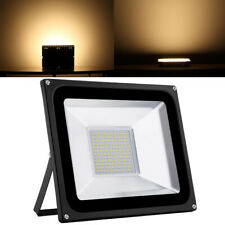 1X 100W LED Floodlight  Outside Wall Light Security Flood Lights IP65 Warm UK