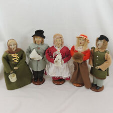 "Vintage Christmas Caroler Figurines Lot of 5 Set Holiday Collectible 12"" Dolls"