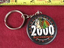 Rare Portland Winter Hawks Mini Puck Key Fob Chain Htf Vtg Ice Hockey Souvenir