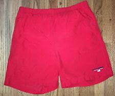 Vintage Polo Sport Ralph Lauren Swim Swiming Trunks Red Shorts Medium 90s