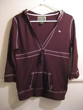 US POLO ASSN. womens hooded shirt size xl with 3/4 length sleeves