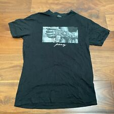 VINTAGE Mister Tee T Shirt Mens Large Black Cotton Tattoed Hand Graphic
