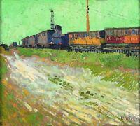 Vincent van Gogh Railway Carriages Poster Print on Paper Home Decor Art Medium