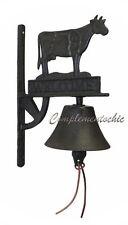 Campana campanello da porta campanaccio mucca vitello welcome in ghisa da muro