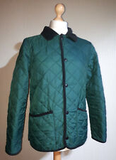 """Henri Lloyd """"Ascot"""" Quilted Jacket with Corduroy Trim Mens Size M Green/Black"""