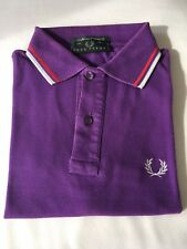 Fred Perry Polo Uomo Slim Fit Tg.S 36/Cm.92 Viola
