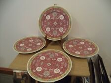 """4 Made in China enamel 10 1/2"""" Dinner Plates"""