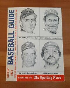 VINTAGE 1974 REGGIE JACKSON / JIM PALMER COVER ~ SPINK OFFICIAL BASEBALL GUIDE