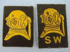 Pair of British Army Diver & Shallow Water Cloth Badges / Patches