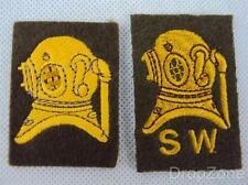 Paio di Esercito Britannico Diver & Bassofondo Acqua Panno Distintivi / Toppe
