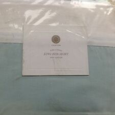 "Martha Stewart Collection King Bedskirt Blue Nouveu Eyelet New 18"" Drop"