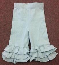 NWT Swanky Baby Girl Vintage Triple Ruffle Leggings Mint Candy Apple Size XL 8