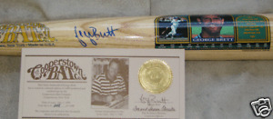 GEORGE BRETT AUTOGRAPH SIGNED FAMOUS PLAYER COOPERSTOWN BAT ROYALS