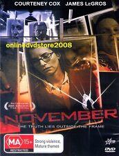 NOVEMBER (Courteney COX James LeGROS) THRILLER Movie DVD (NEW SEALED) Region 4