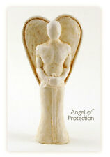 GUARDIAN ANGEL OF PROTECTION SCULPTURE  spiritual art statue figurine feng shui