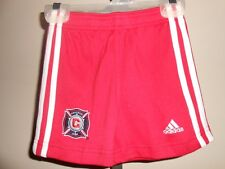 NEW-MENDED Chicago Fire INFANTS 18 Months Red Adidas Shorts