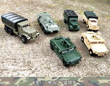 TOY 1/72 1:72 WW2 tank Cougar 6X6 jerrv Truck BTR80 M35 Army Hummer