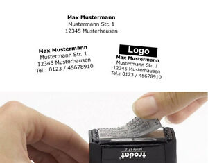 Stempelplatte Textplatte Trodat Printy 4910 4911 4912 4913 4915