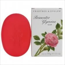 Crabtree Evelyn ROSEWATER GLYCERINE Soap   100g  new in box