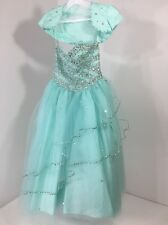 CALLA COLLECTION BIG GIRLS BEADED ACCENT PAGEANT DRESS MINT SZ 8 NWT $388