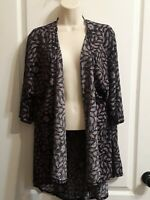 Lularoe Lindsay - Kimono Cardigan Open Front Cover Up- Size Small - Arrow Design